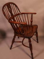 Set of 4 Yew Wood Windsor Chairs Nicholson Rockley (12 of 22)