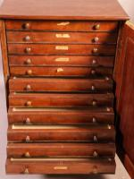 Good Victorian Collectors Cabinet 11 Drawers (6 of 13)
