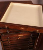Good Victorian Collectors Cabinet 11 Drawers (10 of 13)