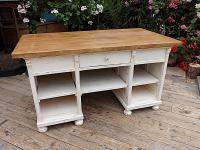 Old Pine / Painted Kitchen Island / Desk / Dressing Table / Shop Counter - We Deliver!