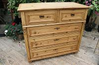 Wow! Fabulous and Big!! Old Pine Chest of Drawers / Sideboard - We Deliver (4 of 10)