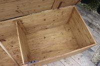 Mega Trunk! Huge! Old Pine Blanket Box / Chest / Table / Storage - We Deliver! (9 of 10)