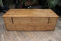 Mega Trunk! Huge! Old Pine Blanket Box / Chest / Table / Storage - We Deliver! (10 of 10)