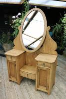 Fabulous Old Pine Adjustable Mirrored Dressing Table - We Deliver! (2 of 9)
