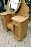 Fabulous Old Pine Adjustable Mirrored Dressing Table - We Deliver! (3 of 9)