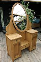 Fabulous Old Pine Adjustable Mirrored Dressing Table - We Deliver! (5 of 9)