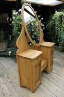 Fabulous Old Pine Adjustable Mirrored Dressing Table - We Deliver! (6 of 9)