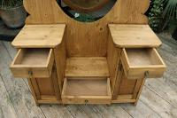 Fabulous Old Pine Adjustable Mirrored Dressing Table - We Deliver! (8 of 9)
