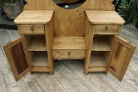 Fabulous Old Pine Adjustable Mirrored Dressing Table - We Deliver! (9 of 9)