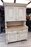 Amazing! Very Old 2 Piece Pine / Painted Dresser / Cupboard / Cabinet - We Deliver! (5 of 15)