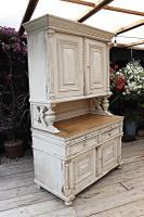 Amazing! Very Old 2 Piece Pine / Painted Dresser / Cupboard / Cabinet - We Deliver! (6 of 15)