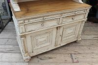 Amazing! Very Old 2 Piece Pine / Painted Dresser / Cupboard / Cabinet - We Deliver! (8 of 15)