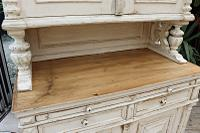 Amazing! Very Old 2 Piece Pine / Painted Dresser / Cupboard / Cabinet - We Deliver! (7 of 15)