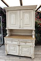 Amazing! Very Old 2 Piece Pine / Painted Dresser / Cupboard / Cabinet - We Deliver! (4 of 15)