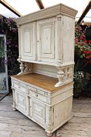 Amazing! Very Old 2 Piece Pine / Painted Dresser / Cupboard / Cabinet - We Deliver! (3 of 15)
