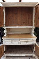 Amazing! Very Old 2 Piece Pine / Painted Dresser / Cupboard / Cabinet - We Deliver! (11 of 15)