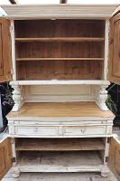 Amazing! Very Old 2 Piece Pine / Painted Dresser / Cupboard / Cabinet - We Deliver! (10 of 15)