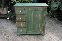 Fab! Old Pine / Green Painted Base / Cabinet / Food Cupboard / Sideboard - We Deliver (2 of 12)
