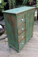 Fab! Old Pine / Green Painted Base / Cabinet / Food Cupboard / Sideboard - We Deliver (6 of 12)