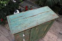 Fab! Old Pine / Green Painted Base / Cabinet / Food Cupboard / Sideboard - We Deliver (7 of 12)