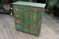 Fab! Old Pine / Green Painted Base / Cabinet / Food Cupboard / Sideboard - We Deliver (3 of 12)