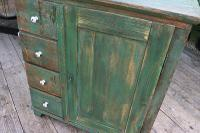 Fab! Old Pine / Green Painted Base / Cabinet / Food Cupboard / Sideboard - We Deliver (4 of 12)