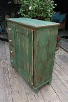Fab! Old Pine / Green Painted Base / Cabinet / Food Cupboard / Sideboard - We Deliver (5 of 12)