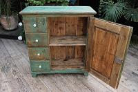 Fab! Old Pine / Green Painted Base / Cabinet / Food Cupboard / Sideboard - We Deliver (9 of 12)