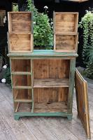 Fab! Old Pine / Green Painted Base / Cabinet / Food Cupboard / Sideboard - We Deliver (11 of 12)
