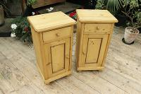 Quality Pair of Large Old Antique Pine Bedside Cabinets / Cupboards. We Deliver! (3 of 9)