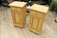 Quality Pair of Large Old Antique Pine Bedside Cabinets / Cupboards. We Deliver! (2 of 9)