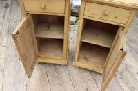 Quality Pair of Large Old Antique Pine Bedside Cabinets / Cupboards. We Deliver! (6 of 9)