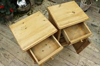 Quality Pair of Large Old Antique Pine Bedside Cabinets / Cupboards. We Deliver! (5 of 9)