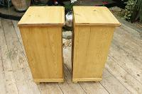 Quality Pair of Large Old Antique Pine Bedside Cabinets / Cupboards. We Deliver! (7 of 9)