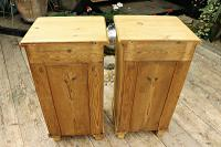 Quality Pair of Large Old Antique Pine Bedside Cabinets / Cupboards. We Deliver! (9 of 9)