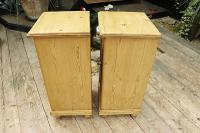 Quality Pair of Large Old Antique Pine Bedside Cabinets / Cupboards. We Deliver! (8 of 9)