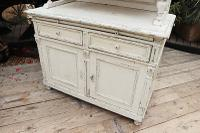 Fabulous Old Victorian Two Piece Pine / White Painted Dresser / Cupboard - We Deliver! (6 of 13)