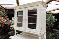 Fabulous Old Victorian Two Piece Pine / White Painted Dresser / Cupboard - We Deliver! (4 of 13)