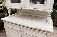 Fabulous Old Victorian Two Piece Pine / White Painted Dresser / Cupboard - We Deliver! (5 of 13)