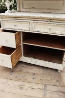 Fabulous Old Victorian Two Piece Pine / White Painted Dresser / Cupboard - We Deliver! (10 of 13)