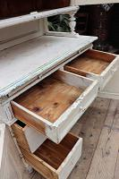 Fabulous Old Victorian Two Piece Pine / White Painted Dresser / Cupboard - We Deliver! (9 of 13)
