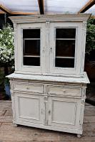 Fabulous Old Victorian Two Piece Pine / White Painted Dresser / Cupboard - We Deliver! (12 of 13)