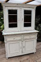 Fabulous Old Victorian Two Piece Pine / White Painted Dresser / Cupboard - We Deliver! (11 of 13)