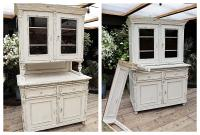 Fabulous Old Victorian Two Piece Pine / White Painted Dresser / Cupboard - We Deliver! (2 of 13)