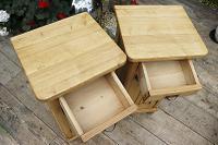Superb!! Pair of Old Stripped Pine Bedside Cabinets / Cupboards - We Deliver! (5 of 9)