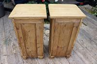 Superb!! Pair of Old Stripped Pine Bedside Cabinets / Cupboards - We Deliver! (8 of 9)