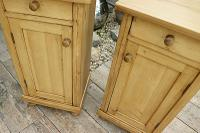 Large Pair of Old Stripped Pine Bedside Cabinets / Cupboards-We Deliver! (4 of 9)