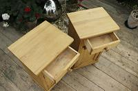 Large Pair of Old Stripped Pine Bedside Cabinets / Cupboards-We Deliver! (5 of 9)