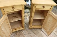 Large Pair of Old Stripped Pine Bedside Cabinets / Cupboards-We Deliver! (6 of 9)