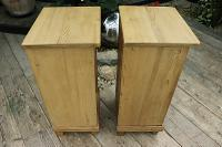 Large Pair of Old Stripped Pine Bedside Cabinets / Cupboards-We Deliver! (8 of 9)
